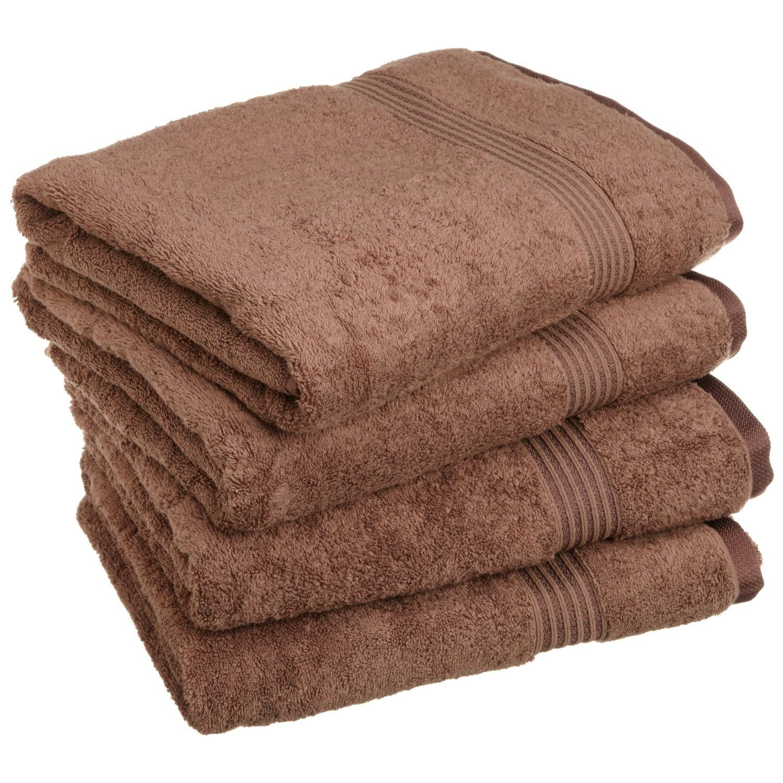Superior - Set di asciugamani da bagno, cotone egiziano, moka, 4 pezzi