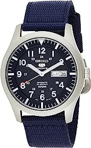 Seiko - SNZG11K1 - 5 Sports - Montre Homme - Automatique Analogique - Cadran Bleu - Bracelet Tissu Bleu