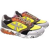 PREMIATA Scarpe Sneakers Uomo Zac Zac 5048 Pelle Tessuto Giallo