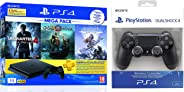 Sony PS4 1 TB Slim Console (Free Games: God of War/Uncharted 4/Horizon Zero Dawn) + Dualshock 4 Wireless Controller for Play