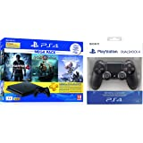 Sony PS4 1 TB Slim Console (Free Games: God of War/Uncharted 4/Horizon Zero Dawn) + Dualshock 4 Wireless Controller for…