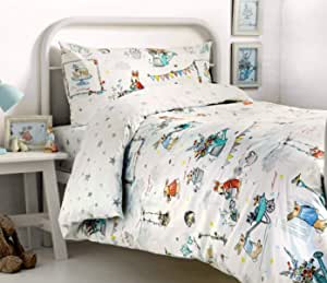 Bedlam Billy Bunny Tea Party Childrens Duvet Cover Set Double Amazon Co Uk Kitchen Home