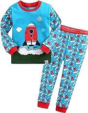 Vaenait baby 74-122 Kinder Jungen Bekleidung Ostern Kostüm Langarm Zweiteilige Schlafanzug Blue Car