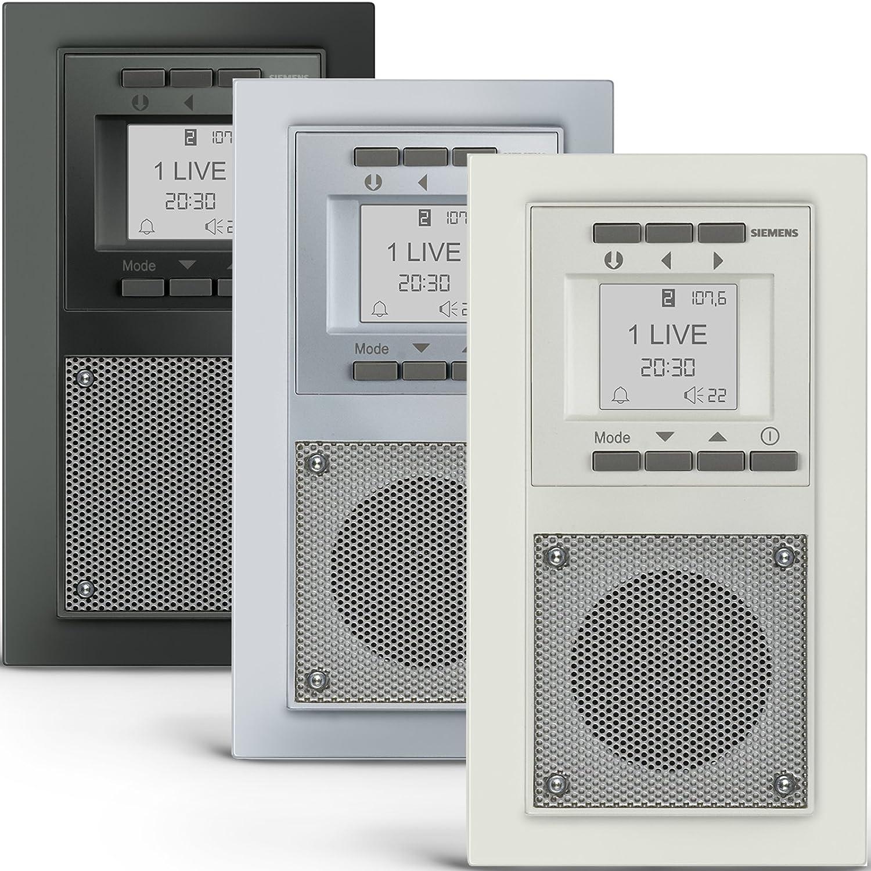 SIEMENS Steckdosen RADIO In Carbonmetallic DELTA Miro Unterputz   Radio  Inkl. Montagewerkzeug Zur Problemlosen Montage: Amazon.de: Baumarkt