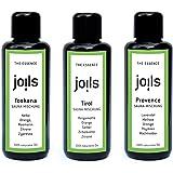 JOILS Kennenlern-Set II Sauna-Aufgüsse, naturrein, 3x 50ml, 100% naturreines Öl für Ihre Sauna, Saunaöl naturrein ätherisch u