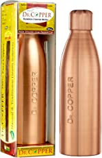 Dr. Copper Unisex and Kid's Copper Water Bottle with New Stylish and Advanced Leak Proof Cap - 500 ml (Copper, DRCH1)