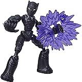 Marvel Avengers Bend and Flex-actiefiguur, flexibele Black Panther-figuur van 15 cm, met blastaccessoire, voor kinderen vanaf