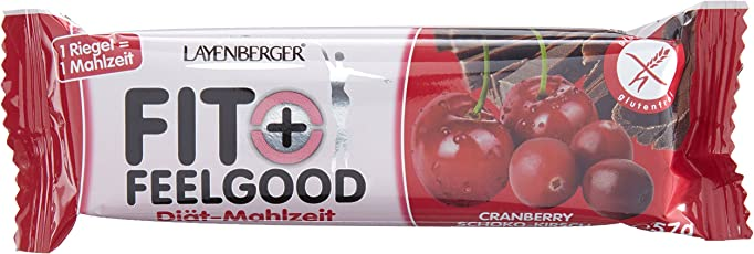 Layenberger Fit+Feelgood Mahlzeitenersatz-Riegel Cranberry-Kirsch, 15er Pack (15 x 57 g)