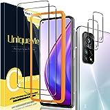 UniqueMe Beschermfolie, compatibel met Xiaomi Mi 10T Pro 5G / Xiaomi Mi 10T 5G, 2 stuks pantserglas en 2 stuks beschermfolie