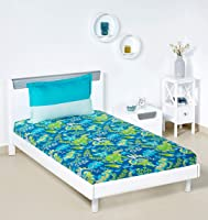 Amazon Brand - Solimo Floral Foliage 144 TC 100% Cotton Single Bedsheet with 1 Pillow Cover, Teal