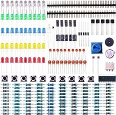 Elegoo Elektronik Komponente Basic Starter Kit Präzisionspotentiometer, Summer, Kondensator Kompatibel mit Arduino UNO, MEGA2560