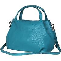 AmbraModa borsa a mano di donna, borsa a tracolla, borsa a spalla italiana in vera pelle dollaro GL023