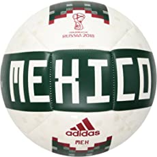 Adidas World Cup Soccer Official Licensed Product Mexico Ball, Size 5, White/Black/Matte Gold