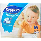 Drypers Wee Wee Dry Medium Sized Diapers (74 Counts)(Taped Diaper)