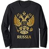 Russland Wappen Russisches Emblem Geschenk Russia Langarmshirt