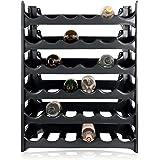 ARTECSIS Wijnrek Stapelbaar Kunststof Voor 36 Flessen, Stabiel Licht Flessenrek Voor Kelder, Gastronomie En Opslagruimte, Mod