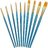 Amazon Basics - Set di pennelli per dipingere, 10 diverse misure, per artisti, adulti e bambini, 6 set