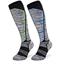 Abida 2/4 Pairs of Men's and Women's Ski Socks, Thermal Snow Skiing Socks, High Performance Warm Outdoor Wool Sports…