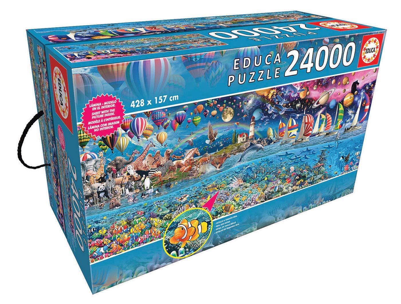 Educa Borras – XXL Puzzles, Puzzle 24.000 piezas, Vida, el mayor puzzle (13434)