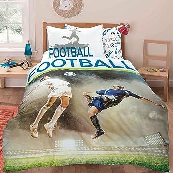 MANCHESTER UNITED FC FT SINGLE DUVET QUILT COVER SET BOYS BED NEW  GIFT