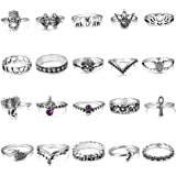 YADOCA 20-114 Pieces of Vintage Knuckle Rings for Women, Girls, Midi Rings, Bohemian Knuckle Rings, Stackable Rings, Fashion