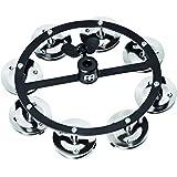 Meinl Percussion HTHH1BK - Hi-Hat con una fila di cimbalini in acciaio, colore: Nero