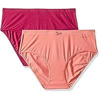 Van Heusen Women's 11110 Plain Anti-Bacterial Bikini (Pack of 2)