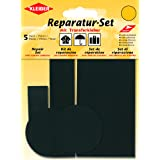 Kleiber set van 5 zelfklevende reparatiestukken voor bekleding van nylon, zwart