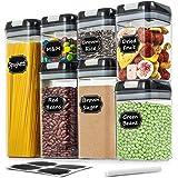 Wildone Lot de 7 boîtes de conservation hermétiques pour aliments secs et céréales avec couvercles à verrouillage facile