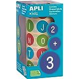 Apli barn 102533 rullar med 900 runda klistermärken diameter 20 mm ABC Majuscule