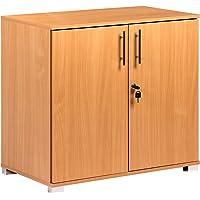 Armoire de bureau en bois de hêtre avec 2 portes Hauteur 73 cm