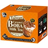 J Way Bubble Tea Kits (6/Pack) . 2020 Great Taste Award 1 Star. 6 Drinks, 6 Tapioca Pearls Boba (50g Each), 6 Straws…