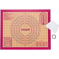 Lazymi Tapis de Cuisson en Silicone Extra épais, Tapis à Pâtisserie Antidérapant avec Mesure 50 x 40 cm, Anti-Adhérent…