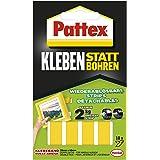 Pattex Lijmen in plaats van boren, sterk dubbelzijdig plakband, verwijderbare plakstrips, lijm beveiligt objecten permanent z