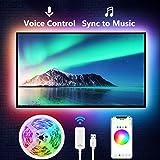 NiteBird TV LED Backlight (2.8 m) Smart LED Strip Lights Works with Alexa Google Home Siri, TV WiFi APP Control Multi-Color R