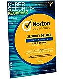 Norton Security Deluxe 2019   limitierte CyberSecurity Edition   Schutz für 5 Geräte inkl. Secure VPN   PC/ MAC/ Android Download   FFP