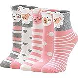 PUTUO Calcetines Divertidos Niña Calcetines de Animales, Calcetines Niñas Invierno Calcetines Térmicos Niña Calcetines de Alg