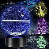 3D-lamp, cadeau, led-illusie, nachtlampje, speelgoed, 16 kleurveranderingen, 5 patronen met afstandsbediening, cadeau voor ma