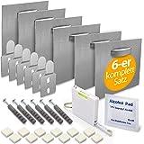 MOISHO® [Set van 6] zelfklevende aluminium dibond en acrylglasfoto bevestigingsset compleet voor foto's en spiegels - spiegel