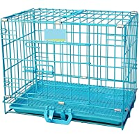 Midwest Dog Cage/Crate/Kennel Double Door Heavy Duty Folding Metal for Small Dogs and Puppies 24 Inch