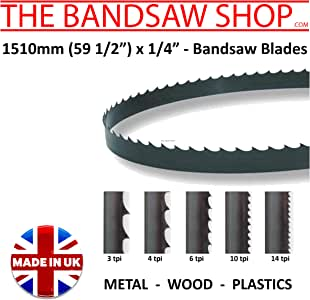 1510mm 59 1//2 x 1//2 Bimetal Bandsaw Blades 6-10 6 TPI x 1//2 59 1//2 14-6//10-8//12-10//14 TPI 13mm
