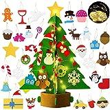 Bageek Albero di Natale in Feltro per Bambini Decorazioni Natalizie Regali Natale Christmas Craft Kit con 29 Decorativo Ornam