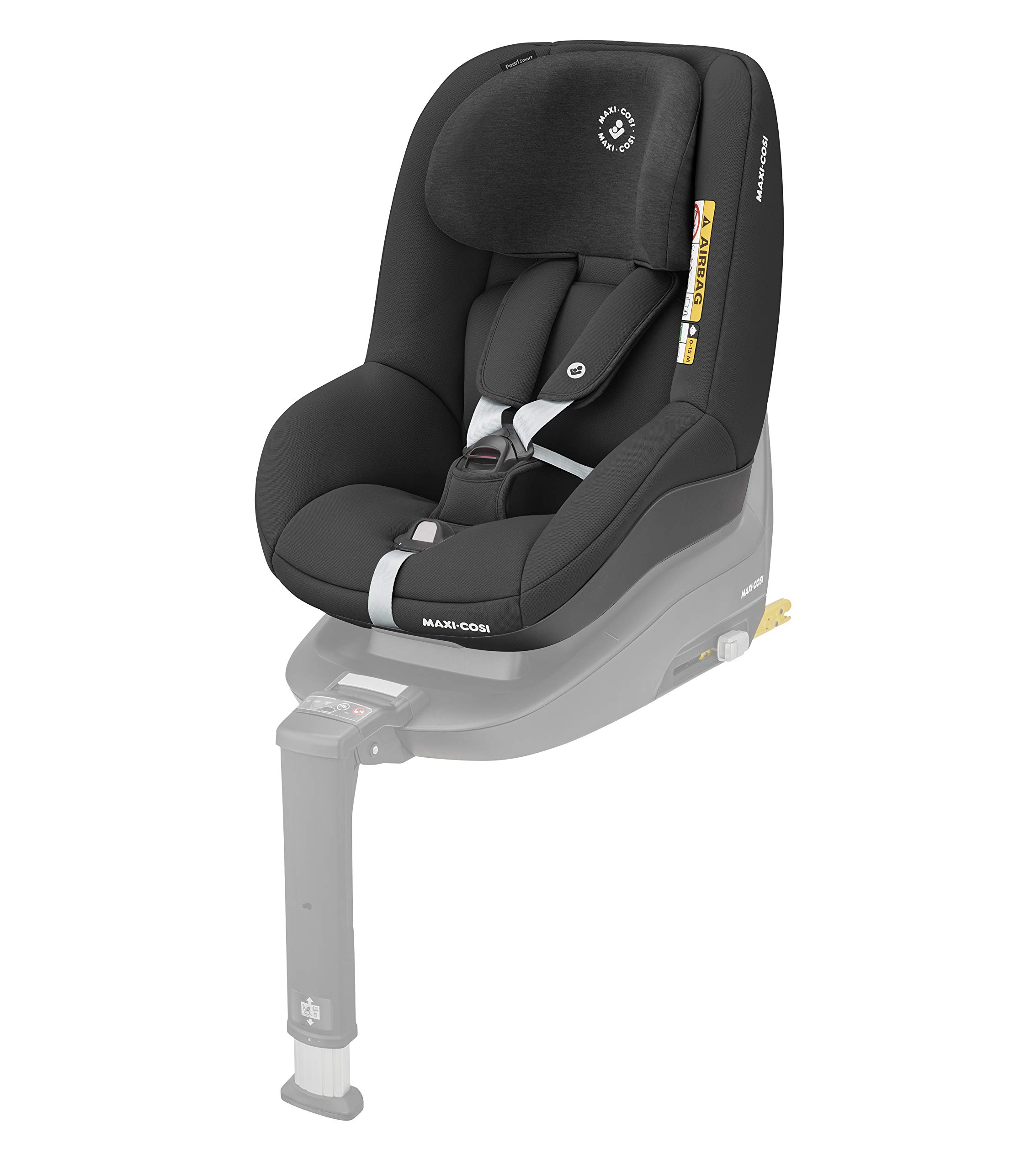 Maxi-Cosi Pearl Smart i-Size Toddler Car Seat, 67 - 105 cm, Authentic Black, 6.88 kg Maxi-Cosi Car seat for toddlers, suitable from 6 months to 4 years (9 - 18 kg, 67 - 105 cm) Must be installed in combination with family fix one i-size base I-size (r129) car seat legislation, due to rearward-facing travel up to 105 cm (4 years) 1