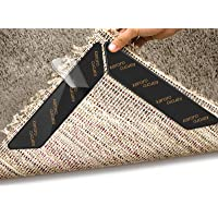 Rug Gripper, 10pcs Anti Curling Rug Gripper for Wooden Floors, Large Size Carpet Sticker Anti Slip Rug Underlay to keep…