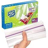 60 Sacs de Congélation Premium par XupZip™ | Taille Demi Gallon 2,2L | Sachets Sandwich en Plastique Robuste et Réutilisable