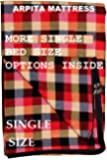 Shri krishan kripa handloom Cotton 300TC Mattress Covers Single Bed (78X36X4 inch_Multicolor)