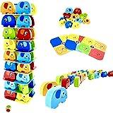 RB&G Spiel Pädagogisches Kinderspiel Puzzle ab 3 Jahre Spiele ab 3 Jahren Holzpuzzle Puzzle aus Holz Stapelspiel Brettspiel a