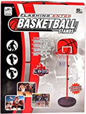 Tokenz Basketball Indoor Outdoor Set with Mobile Scaffold for Kids