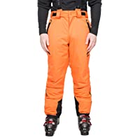 Trespass Men's Kristoff Waterproof Ski Trousers with Removable Braces, Ankle Zips, Gaiters & Side Vents