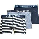 سروال جاكوبي داخلي بتصميم شورت للرجال من جاك اند جونز (عبوة من 3 قطع)